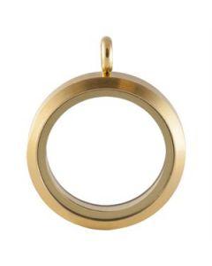 Large Matte Gold Locket