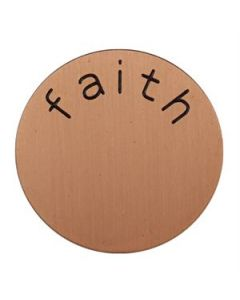 'Faith' Medium Rose Gold Coin