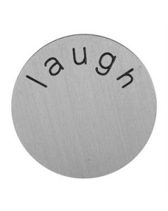 'Laugh' Medium Silver Coin